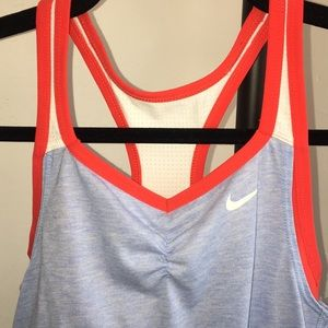 L Nike blue and red tank top